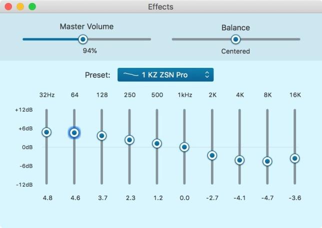 KZ ZSN Pro review EQ