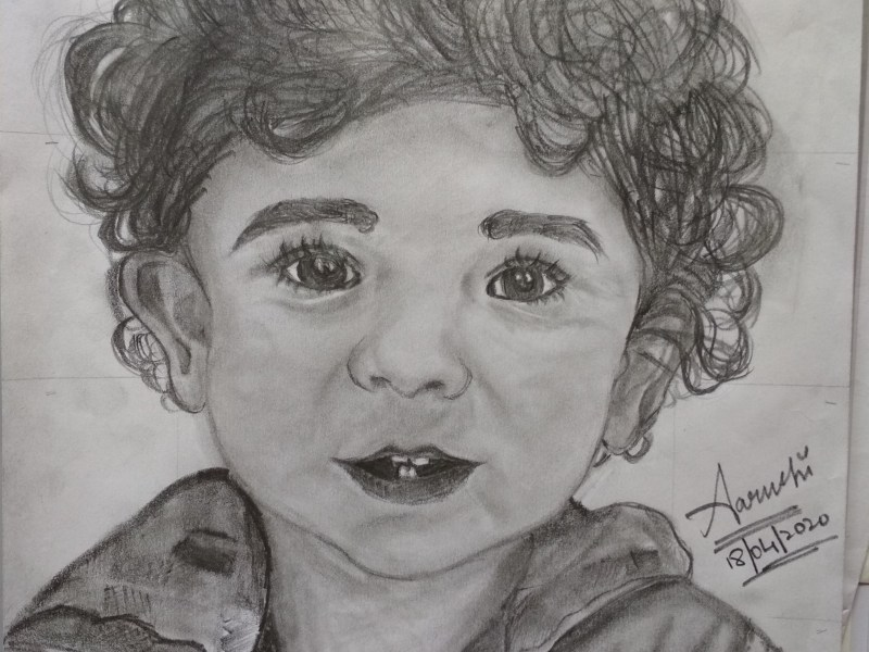 Aayush Nema a.k.a my little brother's sketch