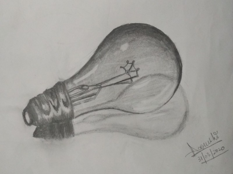 3D Realistic Bulb Drawing
