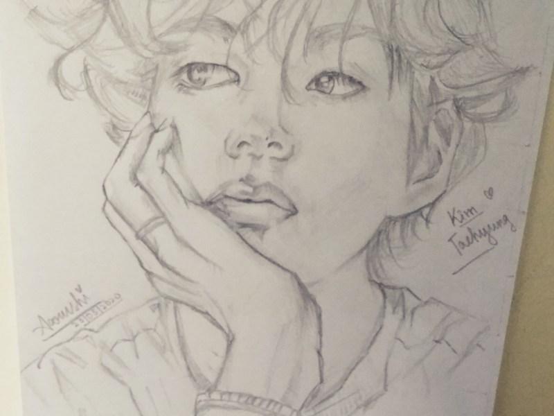 BTS: Kim Taehyung Sketch 2