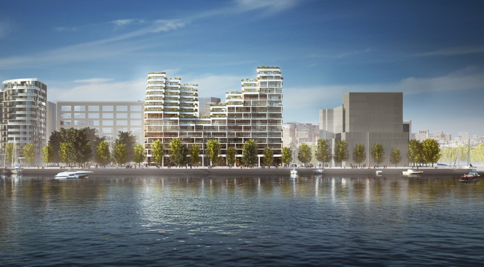 residential project at Bayside Toronto