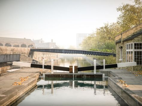 Camley Bridge for King's Cross canal crossing