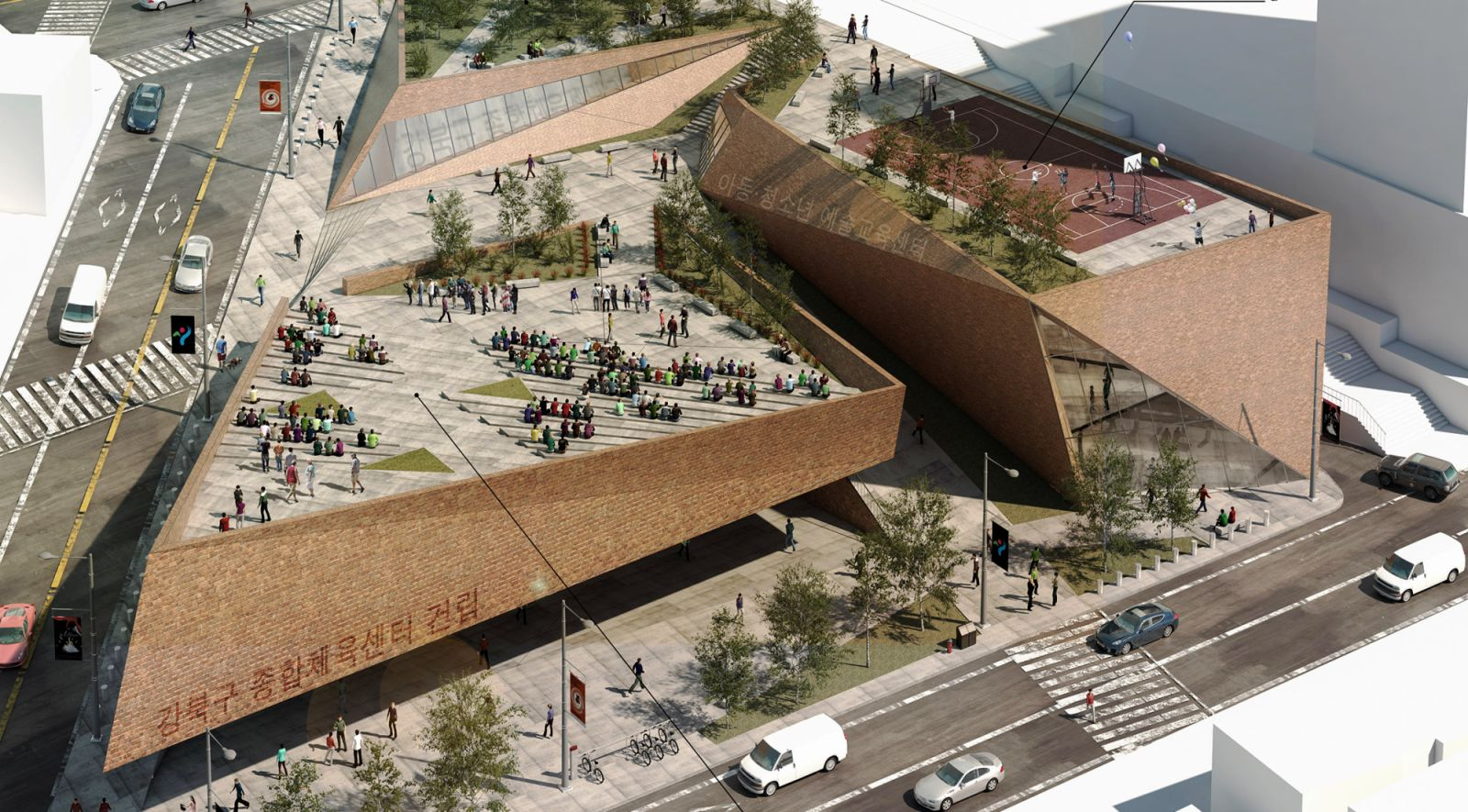 Child And Youth Arts Education Center And Gongbuk Gu Comprehensive Sports  Center By TARI Architects