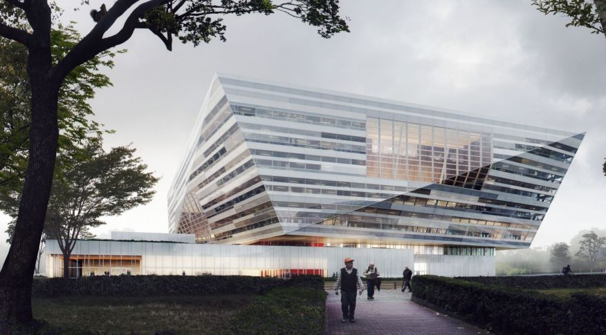 new Shanghai East Library