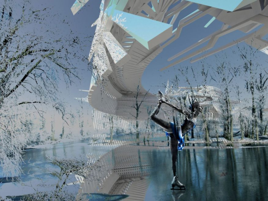 Photovoltaic Ice Skating Rink