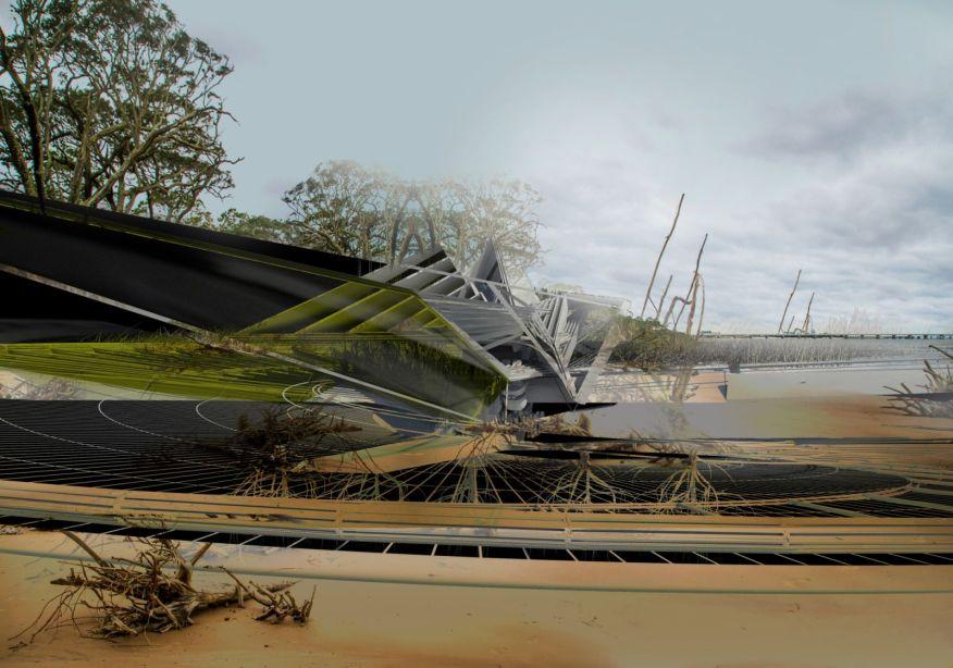 Self-Excavation Hurricane House