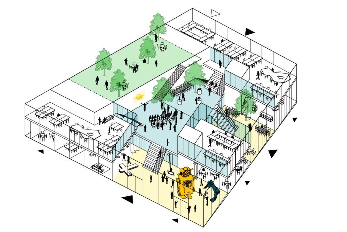 Stationsplein Nieuw Delft