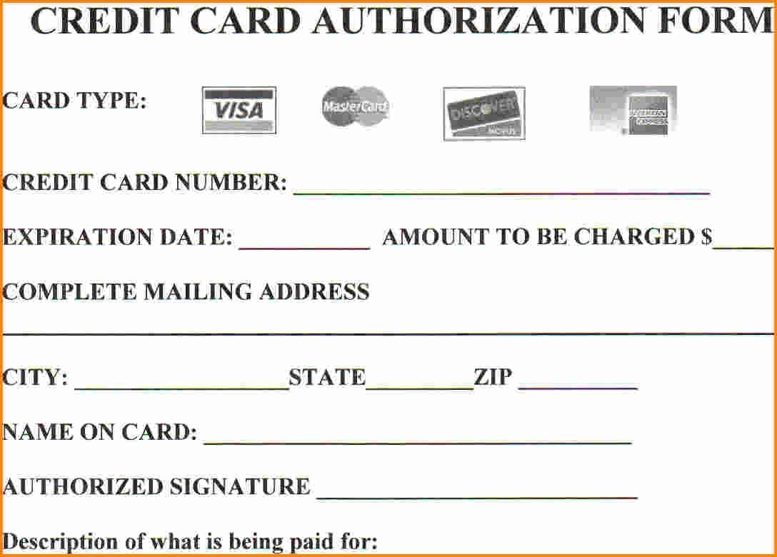 15+ Credit Card Authorization Form Template - Free Download!!