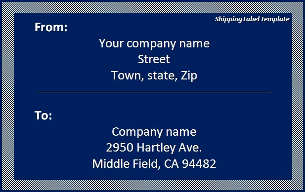 USPS Shipping Label Template Free Printables Download – Shipping Label Template Free