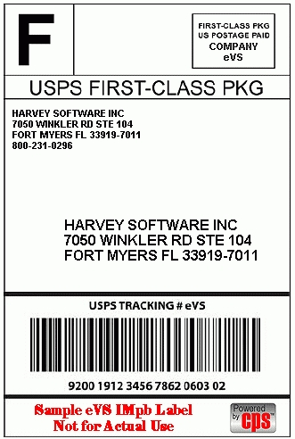 package shipping label template