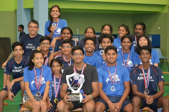 Badminton team of 2017