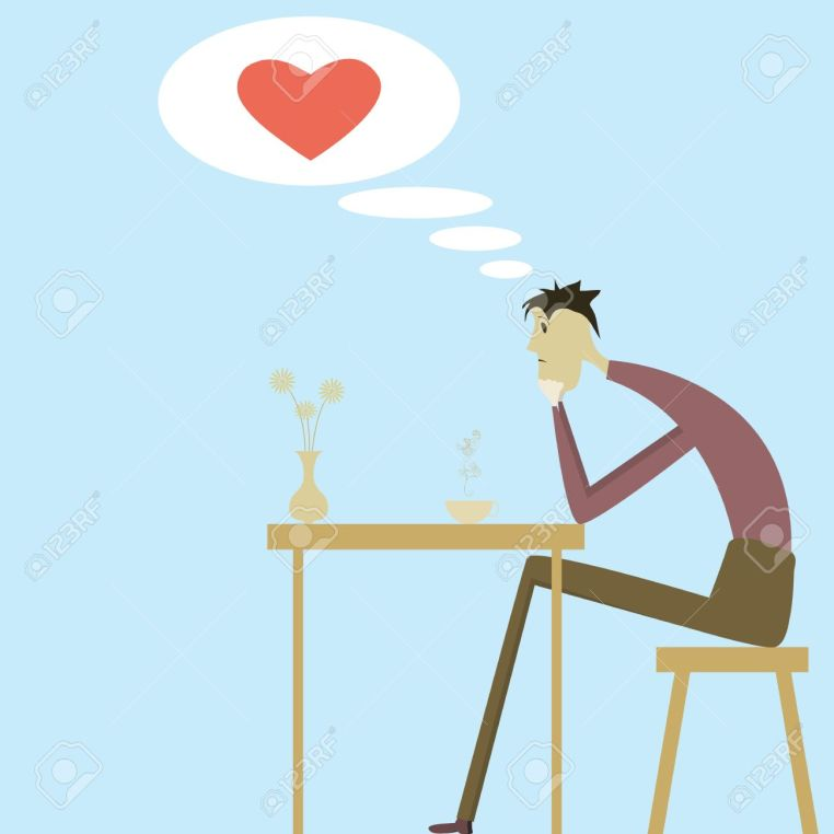19088041-A-man-sitting-in-a-cafe-and-thinking-about-love-Stock-Vector[1]