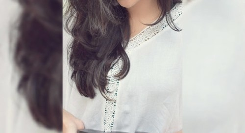 Aashna Malani with The Body Shop Expert Facial Masks