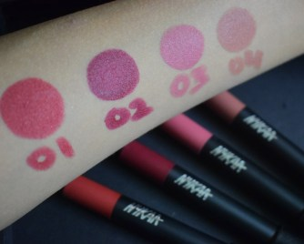 Nykaa Mattelicious Lip Crayons Swatches x Aashna Malani