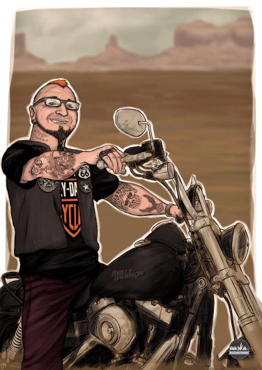 aaska-moto-harley-davidson-biker-illustration