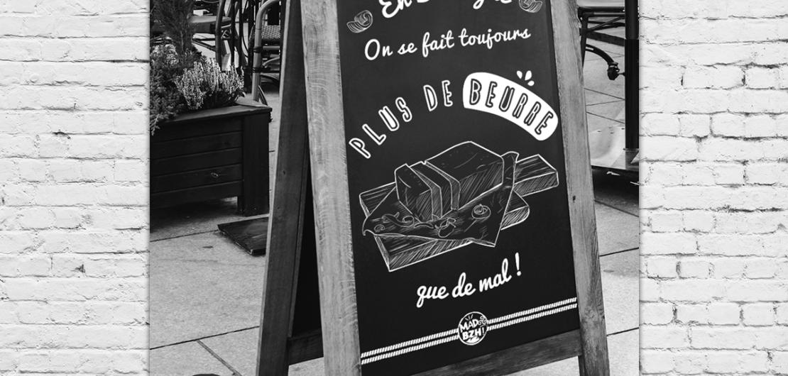 mad bzh - bretonnerie graphique - beurre