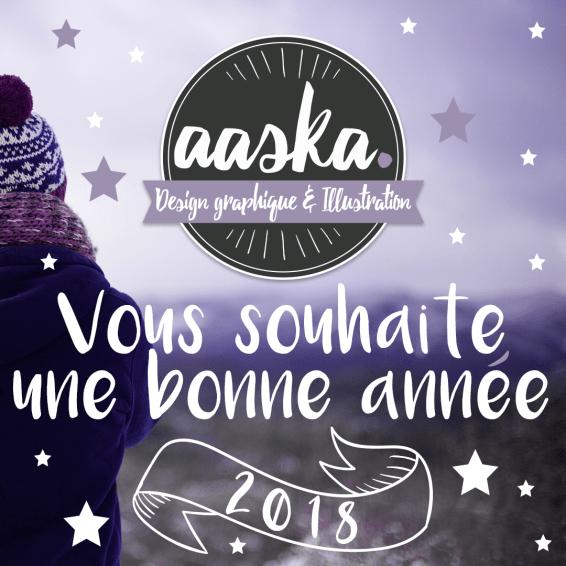 2018 aaska voeux bonne année graphisme