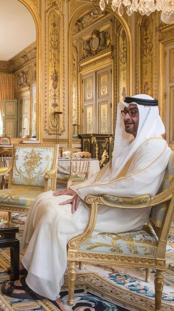 بالصور : محمد بن زايد يبحث في باريس مع الرئيس الفرنسي تعزيز علاقات الصداقة والتعاون بين البلدين ومجمل القضايا الإقليمية والدولية