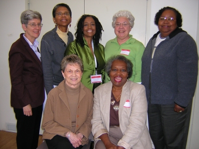 Branch members with AAUW NC president