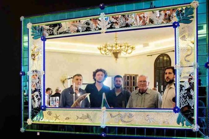 Murano glass mirror