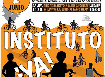 2J: Arganzuela teñirá de naranja Madrid Río para reivindicar un instituto
