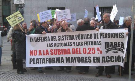 Los mayores salen a la calle para defender el sistema público de pensiones