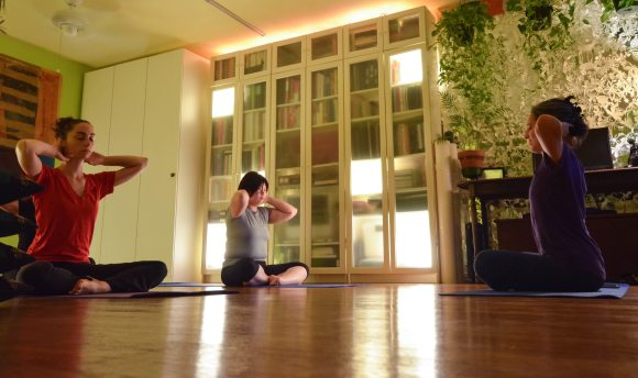 Suran's gentle yoga appeals to a wide range of her Jackson Heights neighbors.