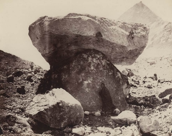 """Rock on a Pedestal of Ice,"" Tibet, ca. 1864, Phillip H. Edgerton."