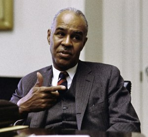 Roy Wilkins at the White House, 1968.
