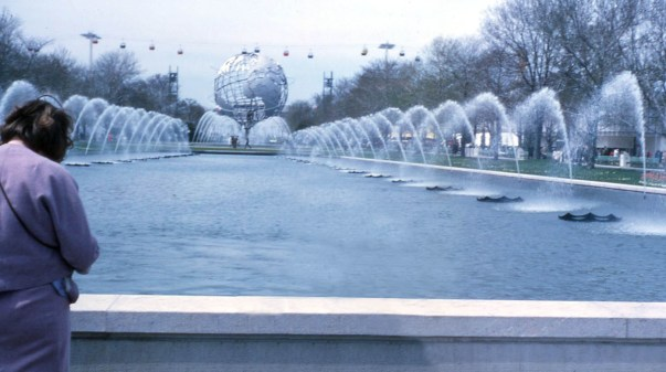 Fountains and the Unisphere at the New York World's Fair, 1964.