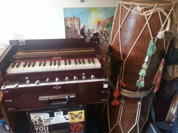 Sonny Singh's harmonium, back home post-repair. (Photo: Sonny Singh)