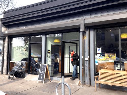 Lark Café sits on Church Avenue in Ditmas Park.