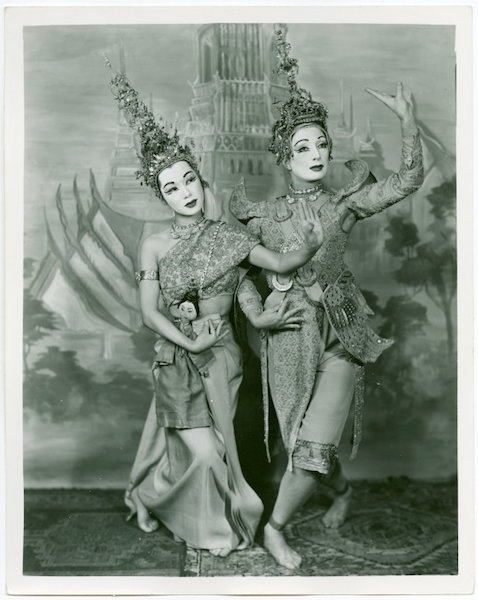 Michiko and Muriel Bentley in The King and I. Photo courtesy NYPL digital collections.