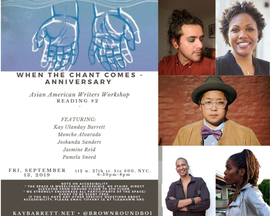 When the Chant Comes Anniversary, Reading #2: Celebrate 3 Years of QTBIPOC Poetry & Storytelling!