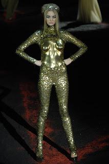 McQueen gold catsuit