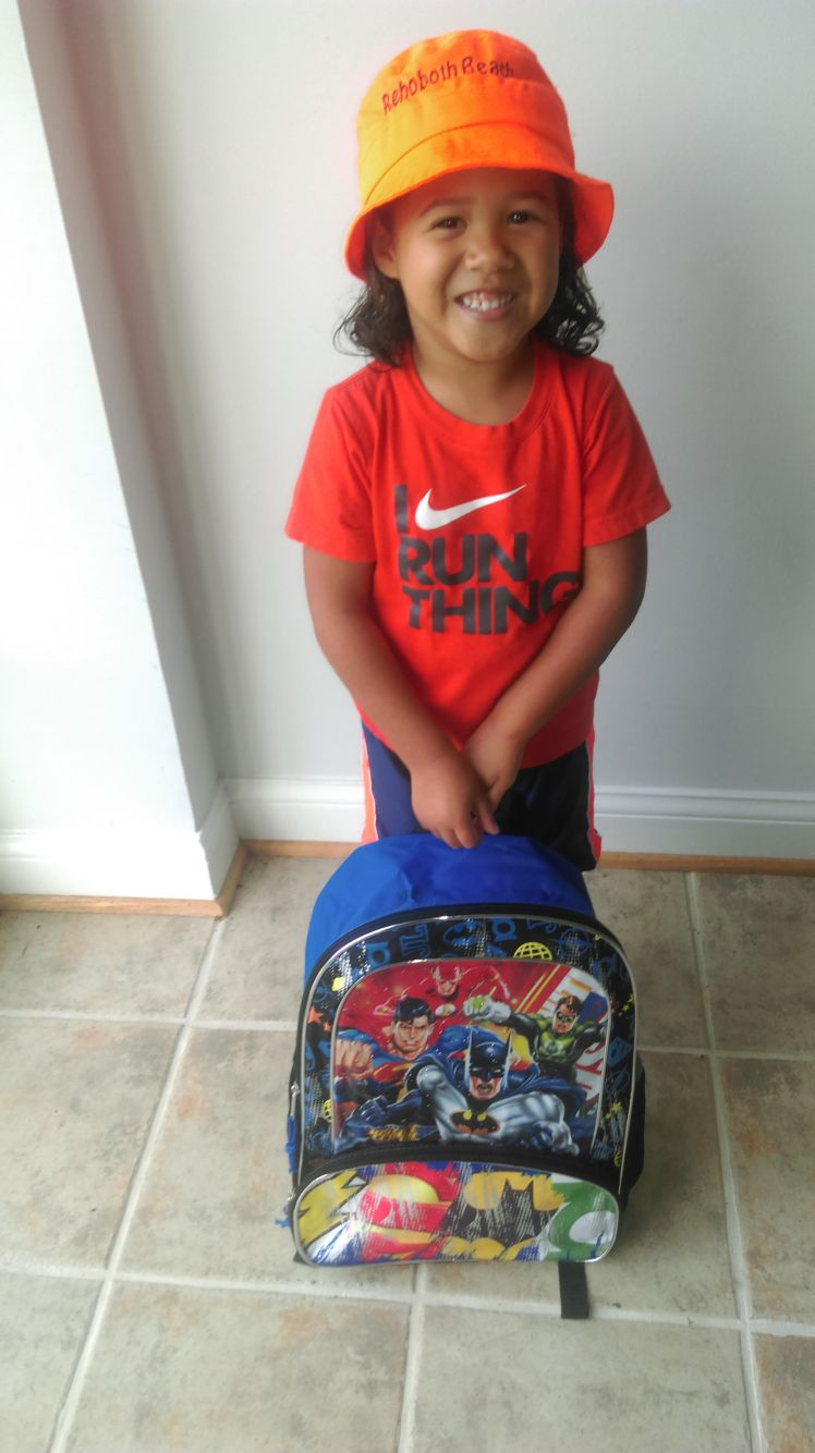 My son on his first day of 1st grade