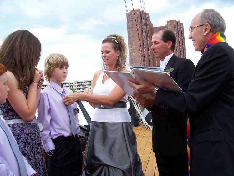Kennedy Wedding on ship in Baltimore Harbor