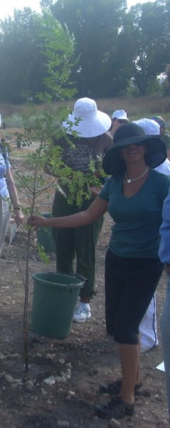 Planting a tree in Israel 2007