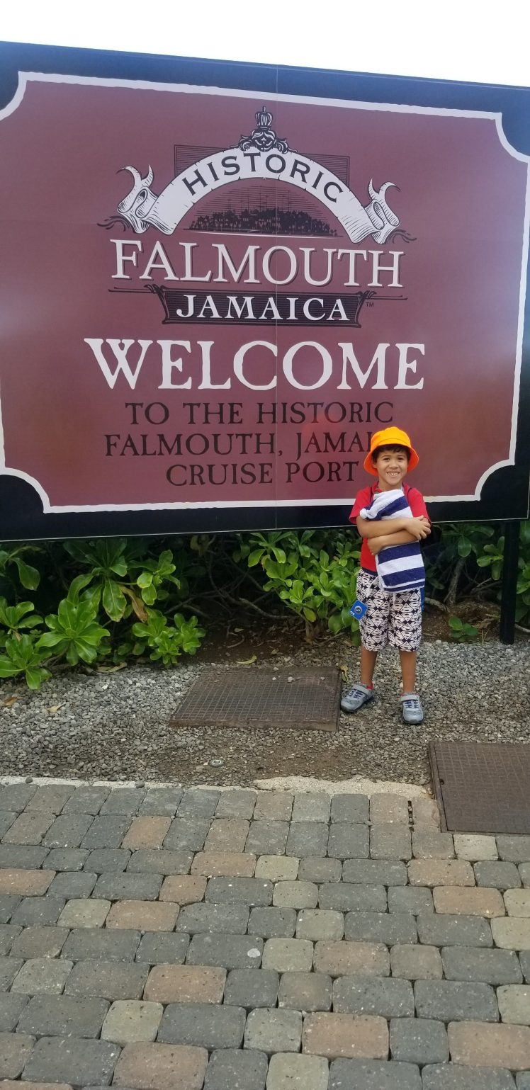 Falmouth Jamaica with my son 2020