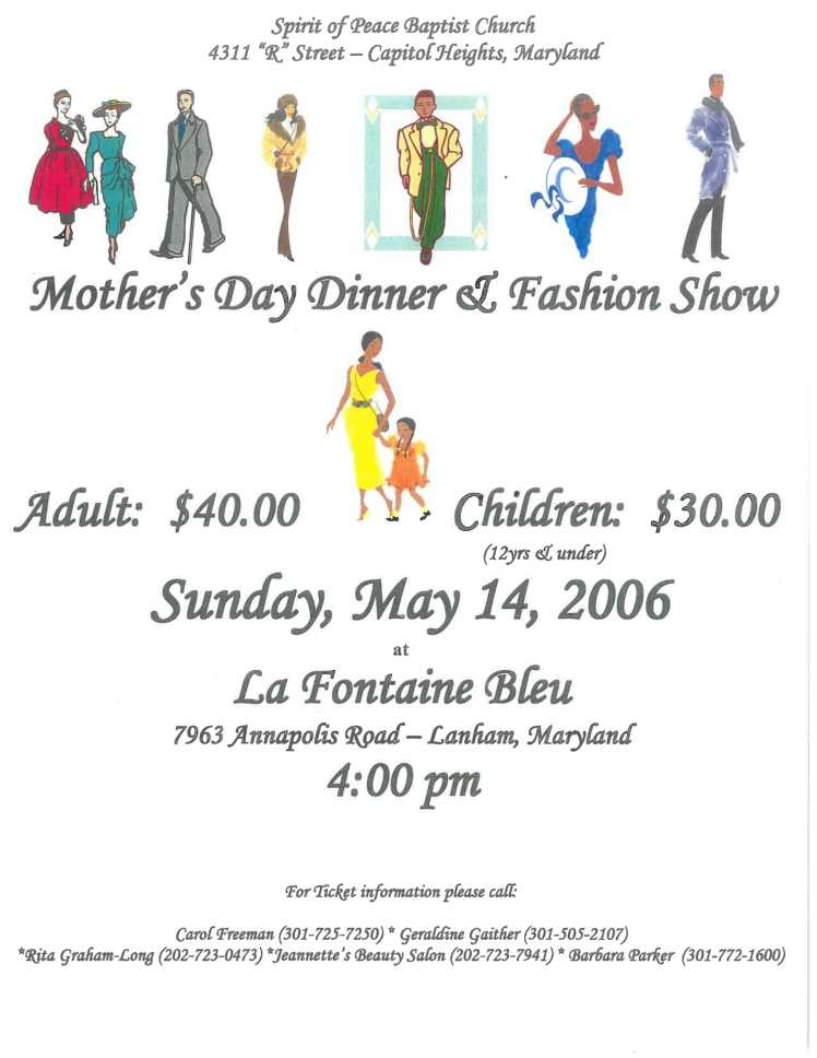 Mother's Day Fashion Show Flyer