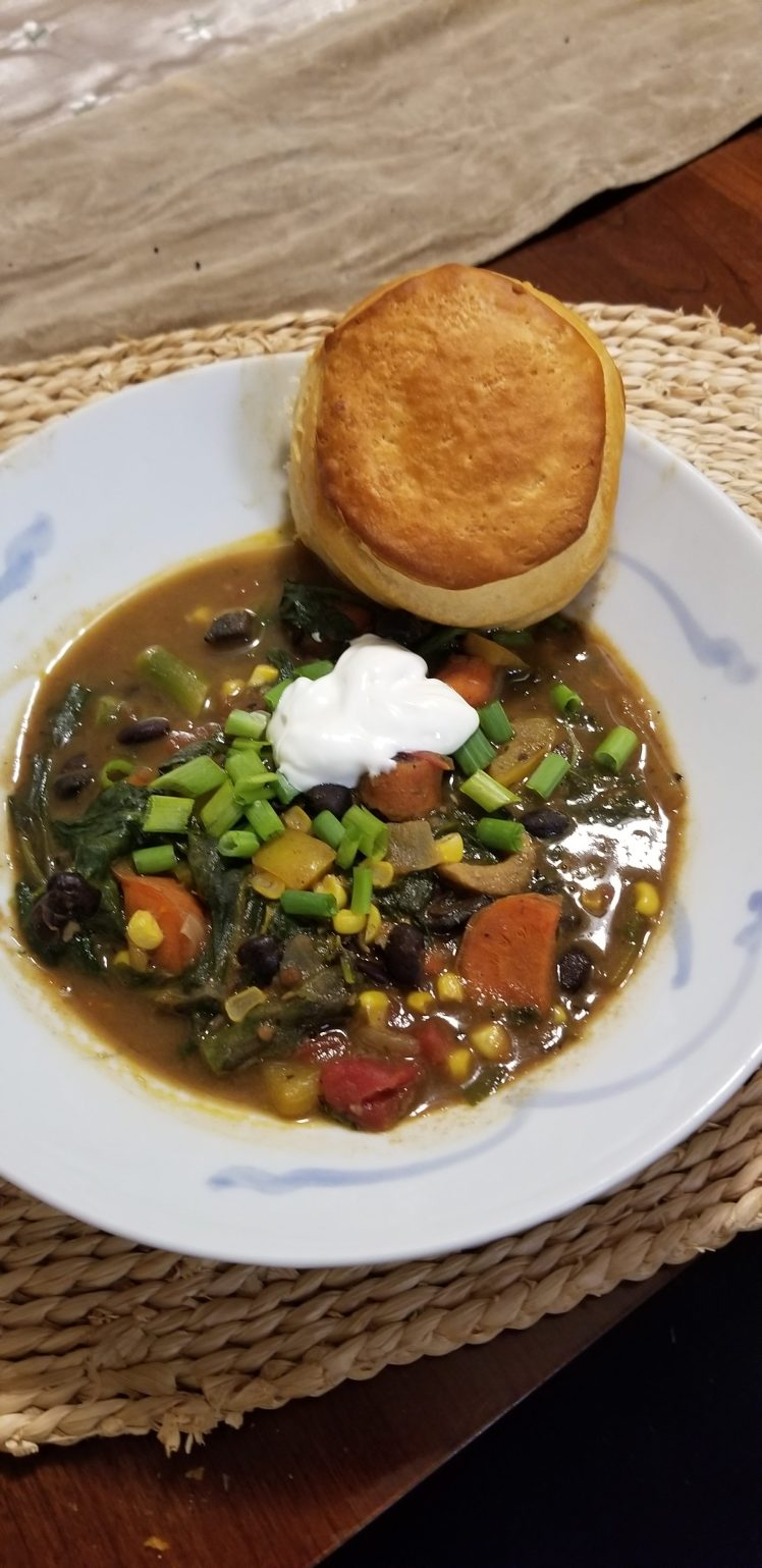 Homemade Stew & Biscuit