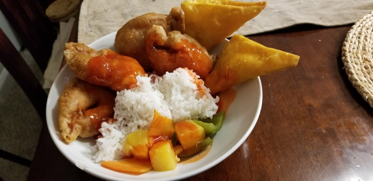 Sweet & Sour Shrimp & Crab Rangoon