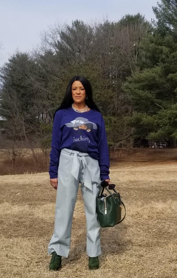 UnFucking Bothered Black Women w/ Hat Long Sleeve T-Shirt
