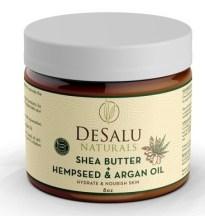 DESALU NATURALS All Natural Raw African Shea Butter with Hemp Seed Oil & Argan Oil