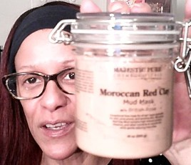 MAJESTIC PURE Moroccan Red Clay Facial Mud Mask with British Rose