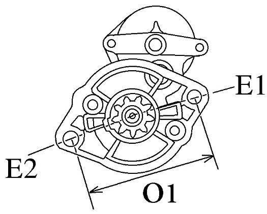 Startmotor Kubota / Beta marine V1405, BV1505, V1505