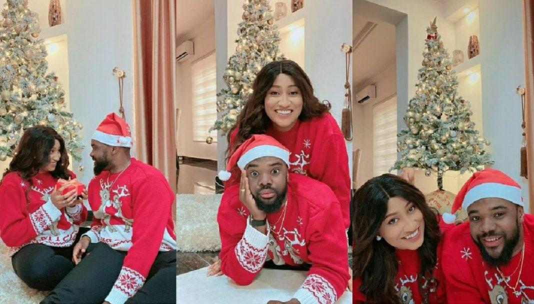 William Uchemba And Wife, Brunella Oscar, Shares Lovely Photos To Celebrate Christmas