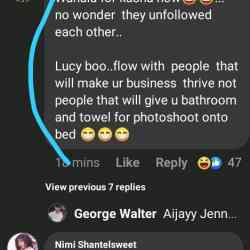 Fans Bash Ka3na Since Nengi has sent money to Lucy to finance her business