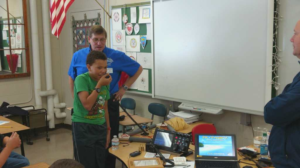 Getting students on the air at Hudson Memorial School