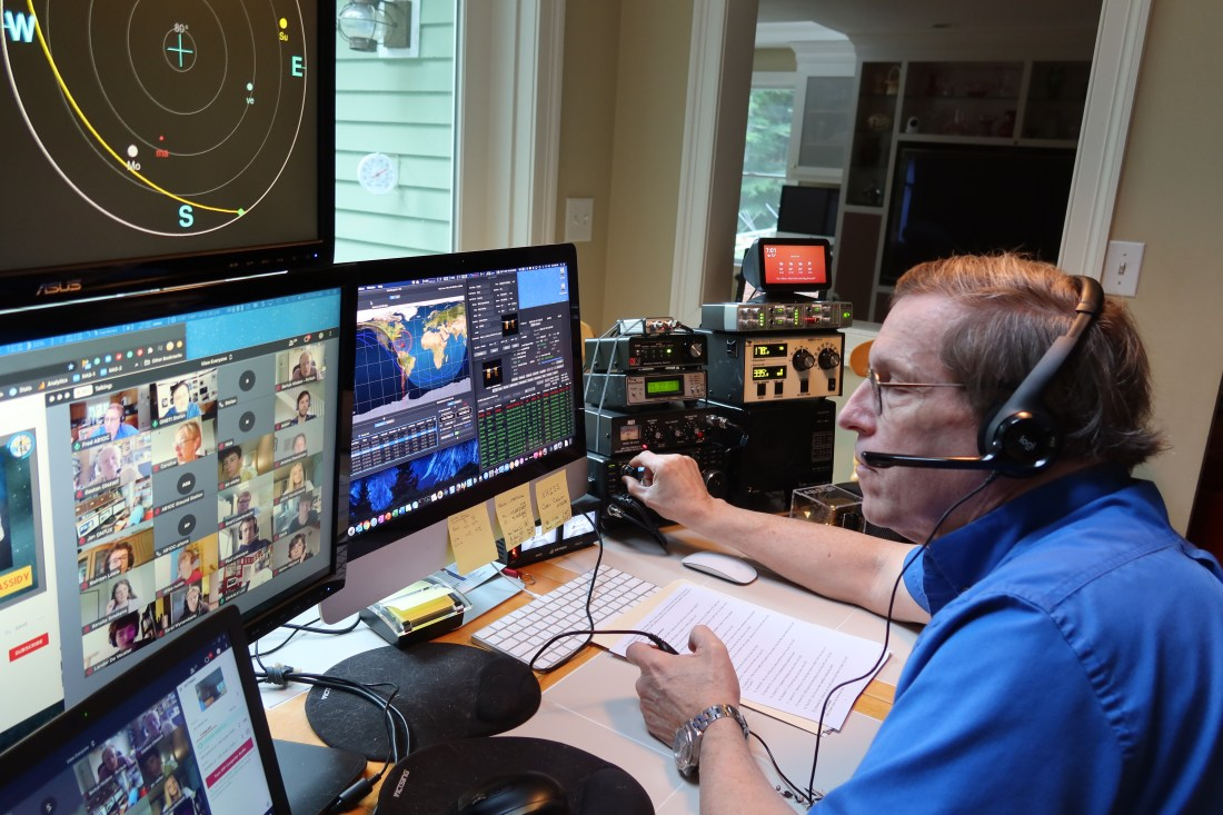 Fred, AB1OC Helping a School Make Contact with an Astronaut on the ISS via Amateur Radio